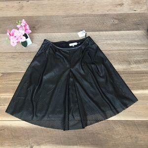 $109 Calvin Klein faux eyelit leather pleat skirt